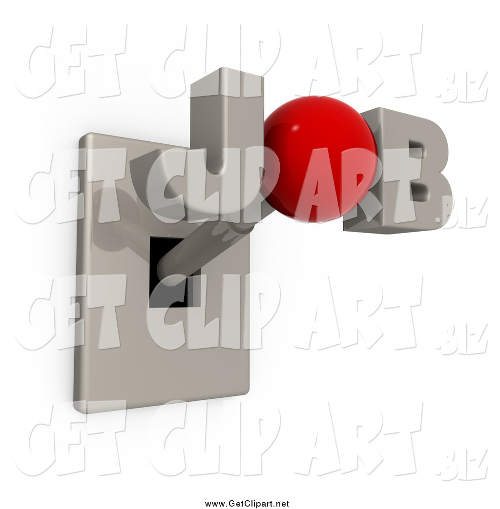 Operator Control Levers Clip Art : Clip art of a d job switch lever by pod