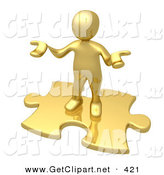 3d Clip Art of a Confused Golden Person Holding Their Hands out Because They Aren't Sure What to Do About Seo and Link Exchanges to Market Their Site by 3poD