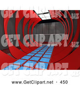 3d Clip Art of a Modern Hallway Inside an Office Interior by 3poD