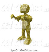 3d Clip Art of a Person with Their Arms out Covered in Toxic Waste Slime and Walking like a Zombie, or a Swamp Monster by 3poD
