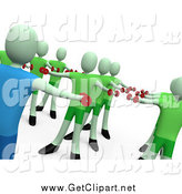Clip Art of a 3d Fitness Instructor Teaching an Aerobics Class by 3poD