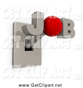 Clip Art of a 3d JOB Switch Lever by 3poD