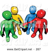 Clip Art of Colorful People All in by 3poD