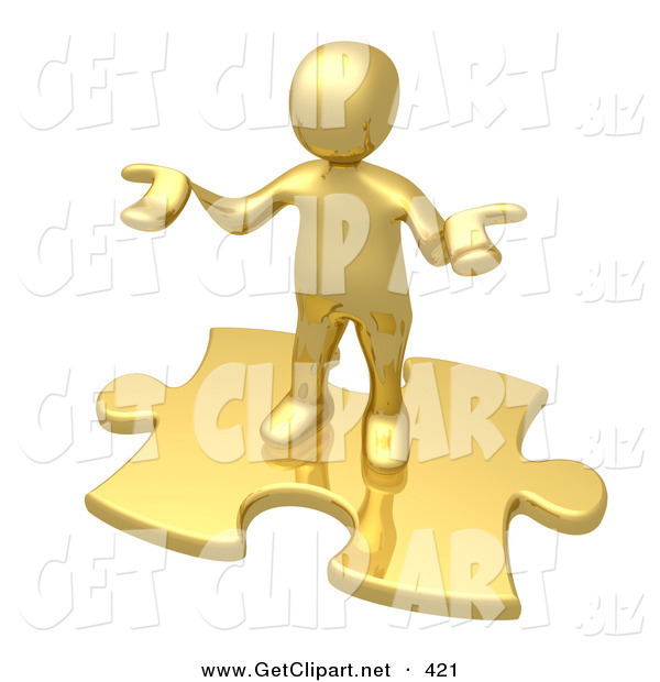 3d Clip Art of a Confused Golden Person Holding Their Hands out Because They Aren't Sure What to Do About Seo and Link Exchanges to Market Their Site