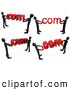 3d Clip Art of a Black People Carrying Dot Com Logo by 3poD