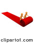 Clip Art of a Two 3d Orange Men Unrolling a Red Carpet by 3poD
